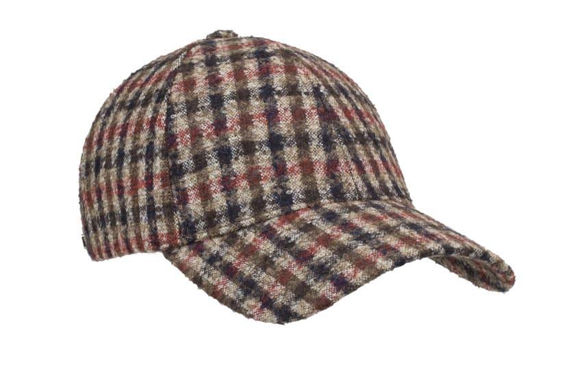 Varsity Headwear BrownCheck Alpaca caps front view